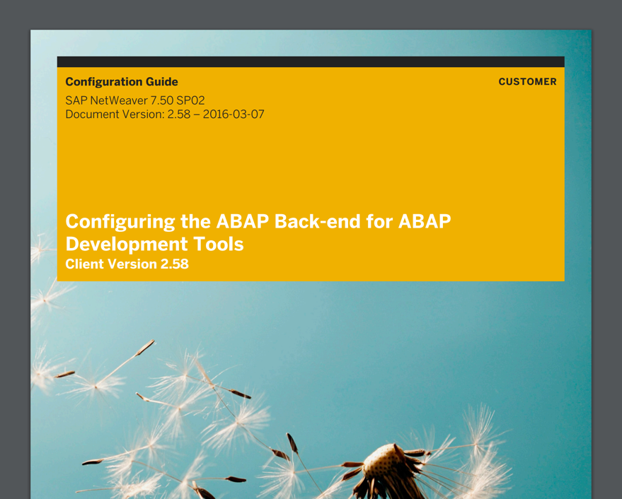 ABAP in Eclipse - Configuration Guide für das Backend