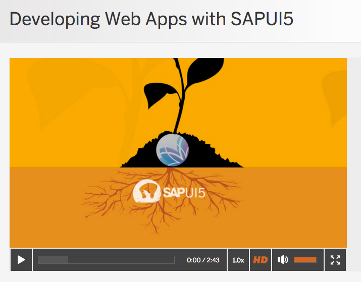 "openSAP Kurs zum Thema ""Developing Web Apps with SAPUI5"""