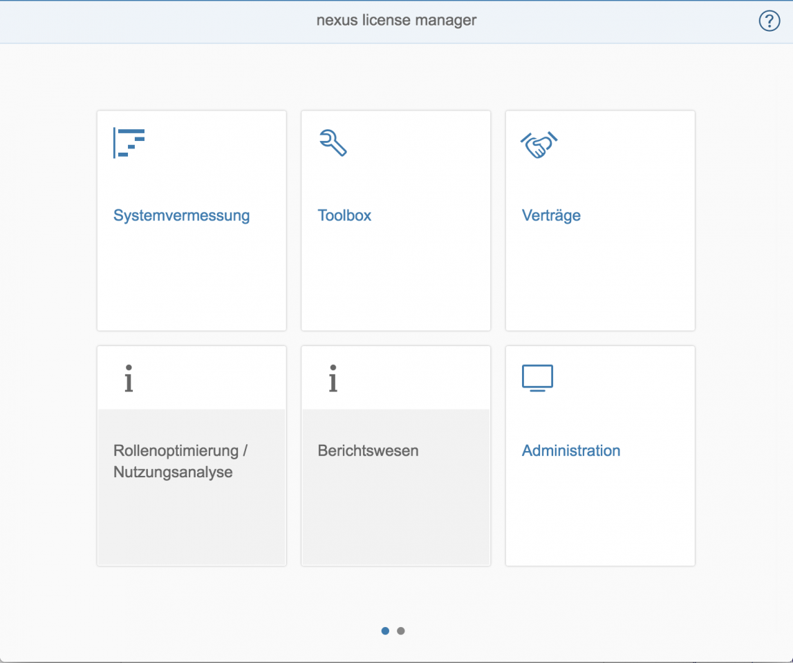 nexus - Administration und Toolbox
